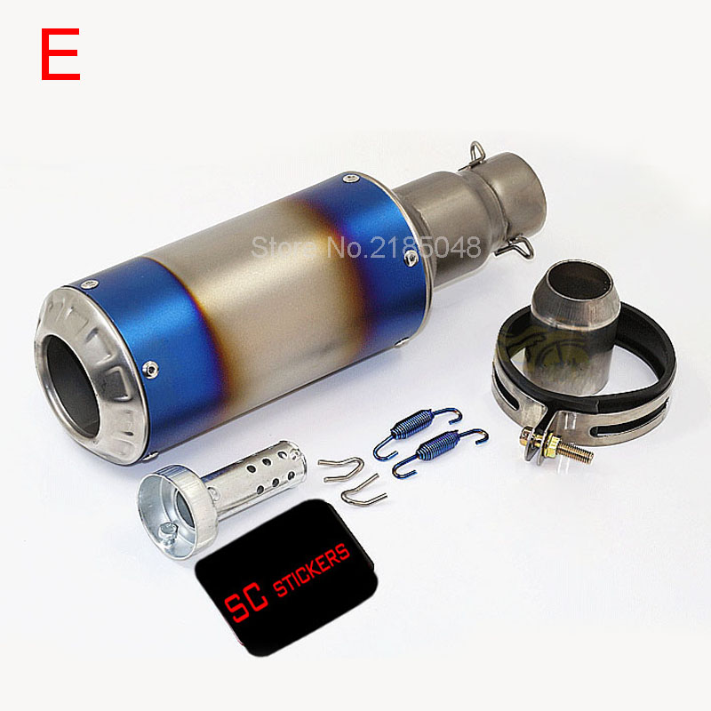 Free Shipping  51mm Universal Carbon Fiber Motorcycle Exhaust Muffler Silencieux Moto Tubo Bike Exhaust Pipe with DB Kille M1001 free shipping carbon fiber id 61mm motorcycle exhaust pipe with laser marking exhaust for large displacement motorcycle muffler