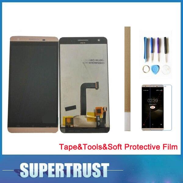 Pour Cubot X15 écran tactile lcd En Verre Capteur Écran Digitizer Noir Or Blanc Couleur avec outils et ruban et souple film de protection