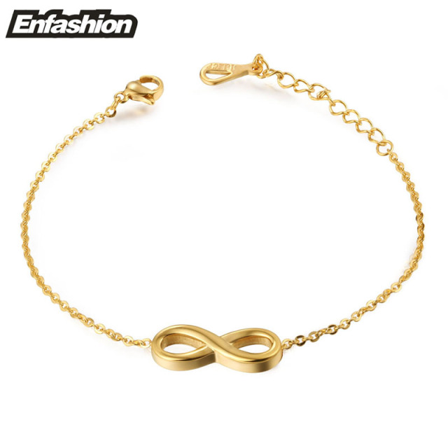 Fashion infinity bracelet chain bracelet rose gold color charm fashion infinity bracelet chain bracelet rose gold color charm bracelets for women stainless steel jewelry wholesale mozeypictures Choice Image