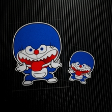 NO.LS013 Free shipping Cartoon Cat Reflective Car Stickers Decals MOTO GP Motorcycle Bike Motocross Helmet Windshield