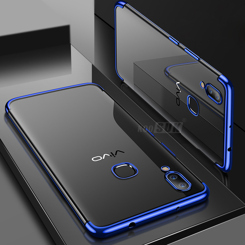 online store e0f39 a3bdd US $3.03 24% OFF|KOOSUK TPU Back Cover For Vivo Y85 / V9 Plating Case  Fashion stitching Color Soft Phone Case For Vivo V9 Slim Protection  Shell-in ...