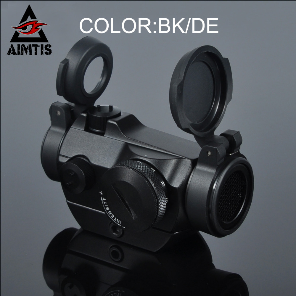 AIMTIS Tactical Aim Hunting Riflescopes Low Profile Mount Micro 1x24 mini Red Dot sight Scopes Optics For Rifle With Killflash canis latrans tactical mini 1x red 2moa dot dot size free shipping cl2 0078