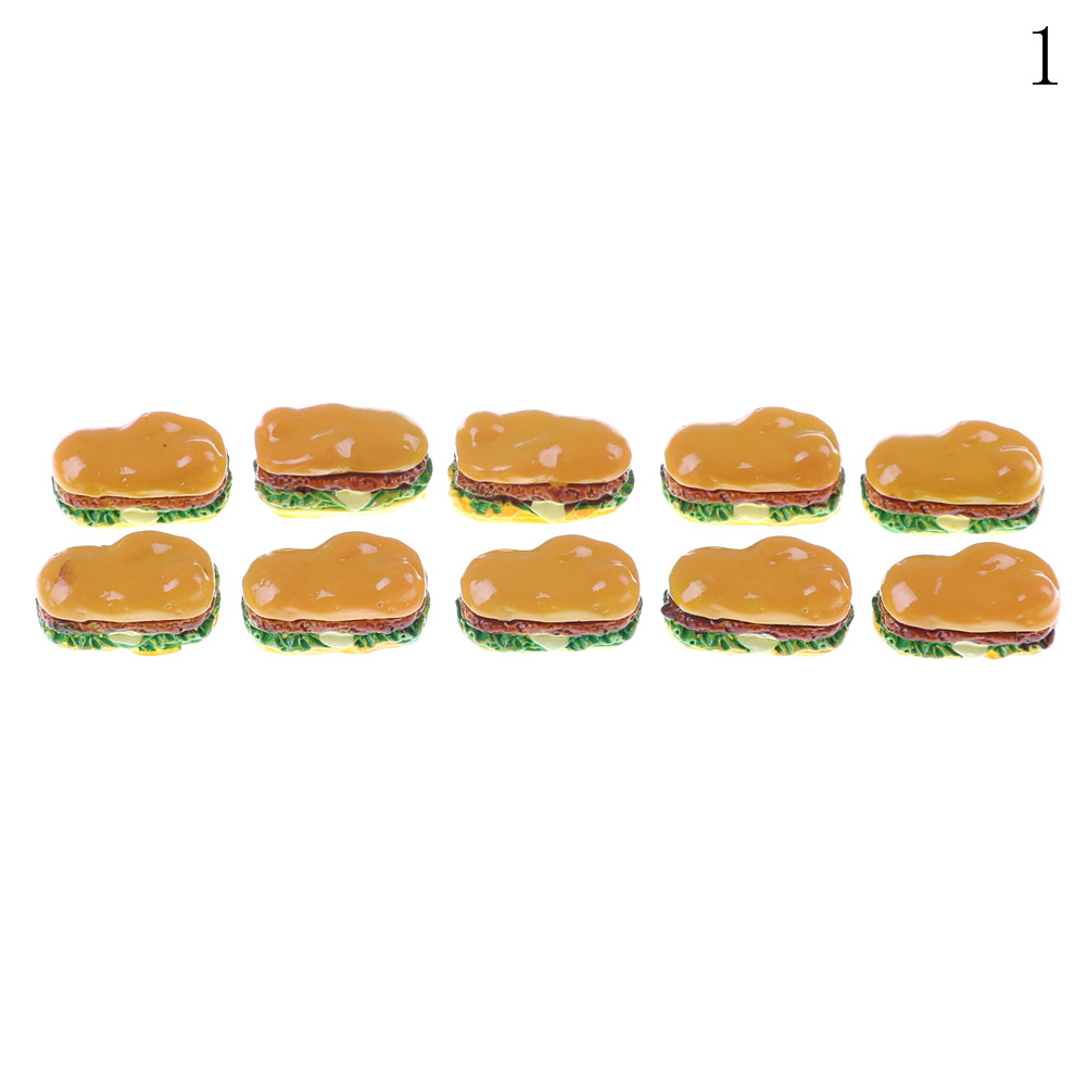 Image 5 - 2Pcs Hamburgers Mini Miniature Food Figurine Anime Action Figure Toys For Home Garden Decor DIY Accessories-in Kitchen Toys from Toys & Hobbies