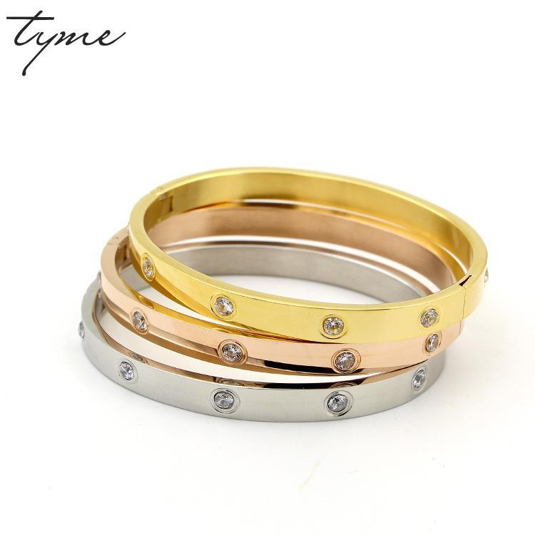 Titanium Steel Tyme Carter Love Bangles Bracelets For Women Men Bracelet H Bangle Men Jewelry