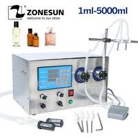 ZONESUN двухголовый Магнитный насос для напитков парфюмерный водный сок эфирное масло электрическая цифровая машина для наполнения жидкой бу