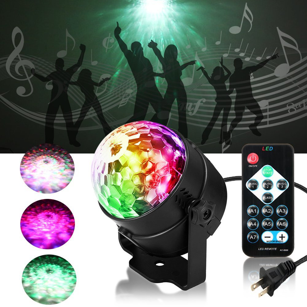 3W RGBW LED Water Wave Ocean Projector Strobe Light for Home Stage Wedding Bar Karaoke IR Remote Control