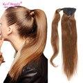 Хвост Человеческие Волосы 100% Бразильские выдвижения Человеческих Волос 12 до 24 дюйм(ов) Клип В Пони хвосты Человеческих Волос Шнурок Хвост