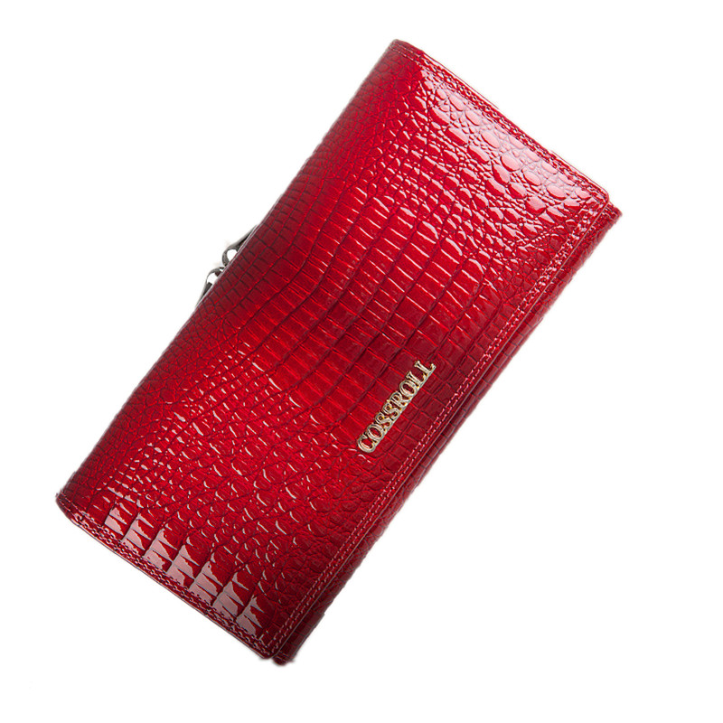 COSSROLL Women Wallets Brand Design High Quality Leather Wallet Female Hasp Fashion Dollar Price Alligator Women Wallets Purses new style school bags for boys