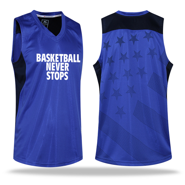 Men s Basketball Clothes Suit Team Apparel Shirts and Shorts Warm Up   Game  Jersey Custom Logo Name   Number(Blue) be0a47594