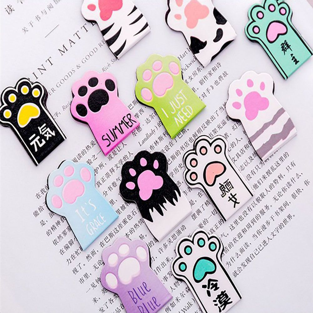 Cat Paw Magnetic Bookmarks Labels Paper Page Clips School ...