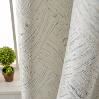 custom curtains Nordic minimalist modern chenille thick shade white cloth bedroom living room blackout curtain M141