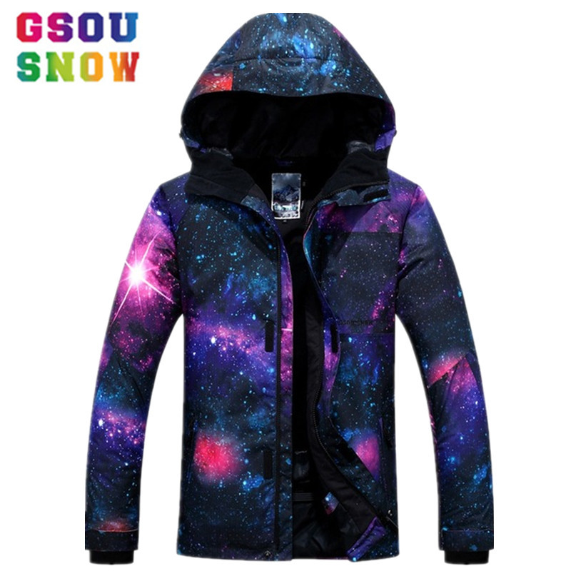 GSOU SNOW Ski Jacket Men Snowboard Jacket Waterproof 10K Breathable 10K Winter Outdoor Cheap Skiing Suit Male Snow Sport Skiwear gsou snow waterproof ski jacket women snowboard jacket winter cheap ski suit outdoor skiing snowboarding camping sport clothing