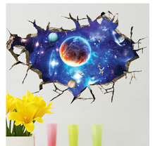 NEW Large 3d Cosmic Wall Sticker Space Galaxy Star Bridge Home Decoration for Kids Room Floor Living Room Wall Decals Home Decor home decorative london twin bridge night glowing sticker luminous decals for couples room