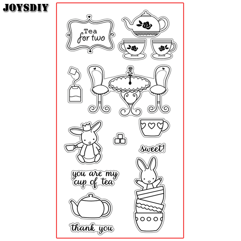YOU ARE MY CUP OF TEA SWEET THANK  Scrapbook DIY photo cards account rubber stamp clear stamp transparent  Handmade card stamp