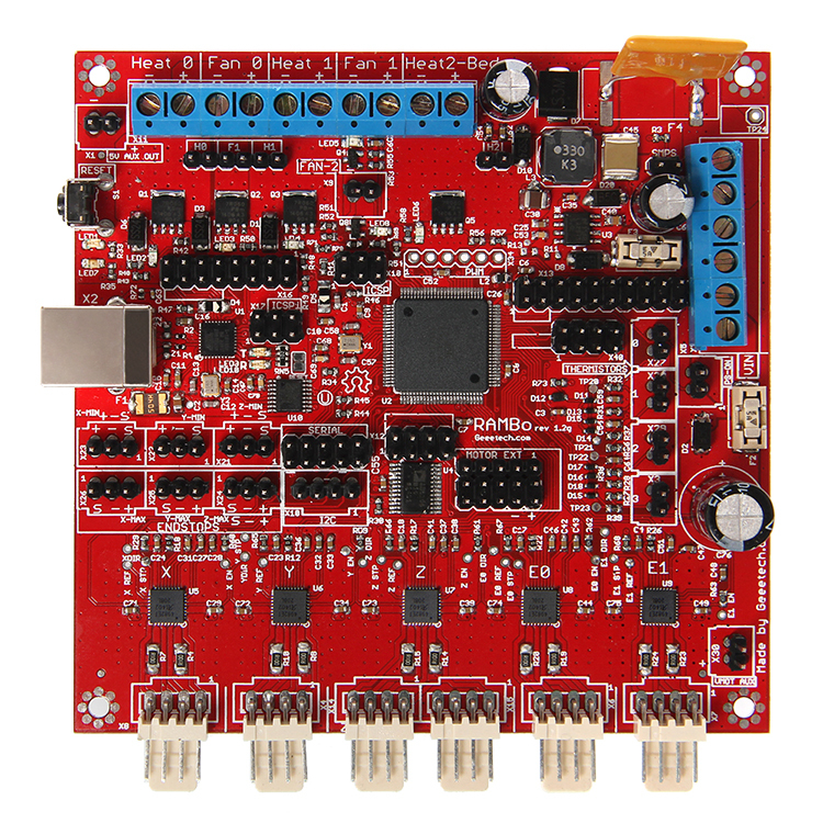 Geeetech Rambo 1.2G reprap 3d printer controller board compatible for arduino geeetech rumba 3d controller board atmega2560 for mentel reprap prusa 3d printer