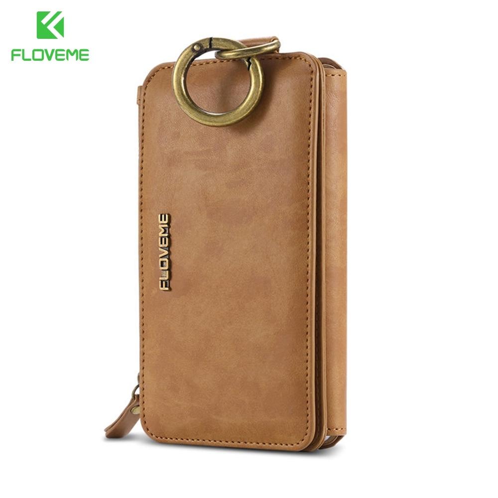 """imágenes para FLOVEME Universal 5.7 """"multifunción Cubierta de la Caja de la Carpeta Para Samsung Galaxy Note 5 S6 Edge Plus Flip Soporte de la Tarjeta Del Bolso de Mano de Cuero"""