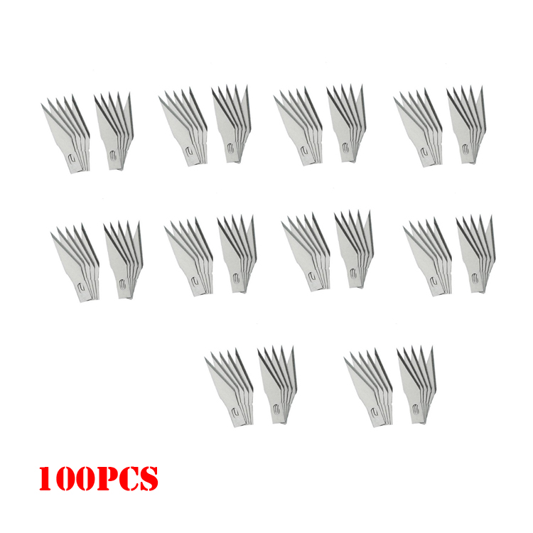 11# surgical knives blades for Wood Carving Engraving tools PCB Repair Hobby DIY blade cutter Knife tool Replace blades 100pcs