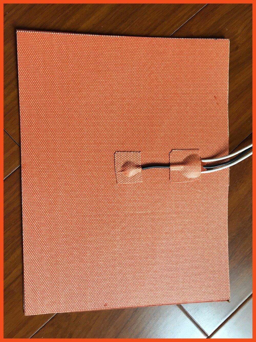 Silicone stampante 3d letto riscaldato 480*450mm 110 v 1000 w 3m adhesive 100 k termistore filo di piombo oil heater stampante