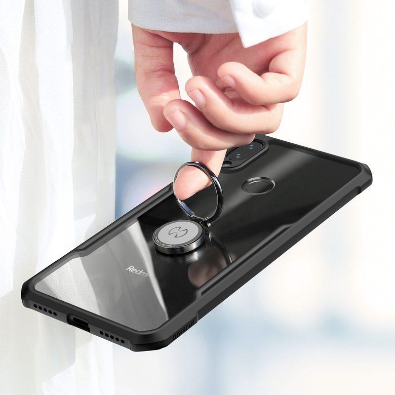 HTB15z3CXuP2gK0jSZFoq6yuIVXaA For Xiaomi Redmi Note 7 7 cc9 Pro Transparent Acrylic+TPU XUNDD Phone case for xiaomi K20 Pro Mi 9T Pro Ring Protective cover