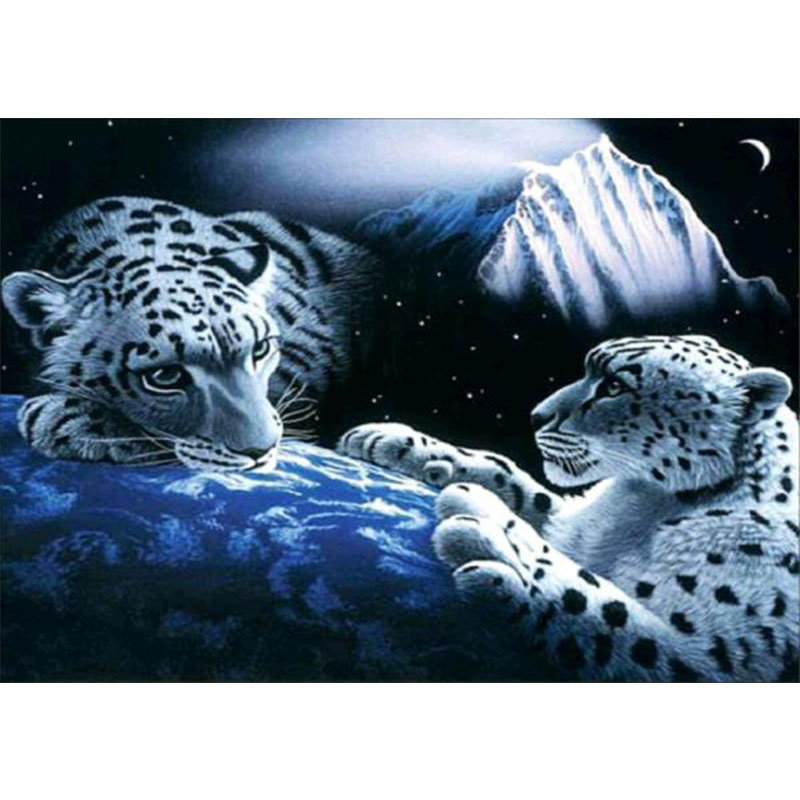 5D Tiger Picture Diy Diamond Painting Cross Stitch Diamond Embroidery Mosaic Sticker Home Decor