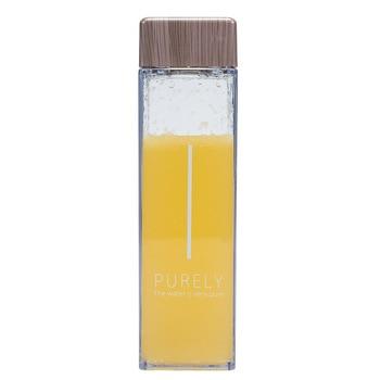 Soffe 450ml Fruit Infuser Water Bottle BPA Free Plastic Square Transparent Heat Resistant Korean Style  Sport Drink Bottle 5