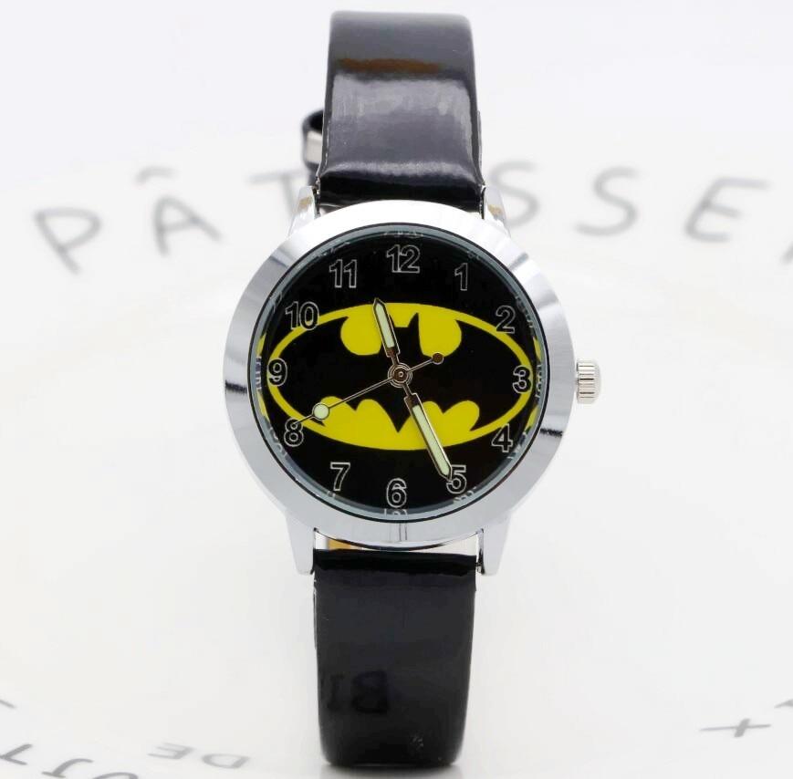 Batman Children Fashion Watches Quartz Wristwatches Waterproof Jelly Kids Clock Boys Girls Students Watch Relogio Kol Saati