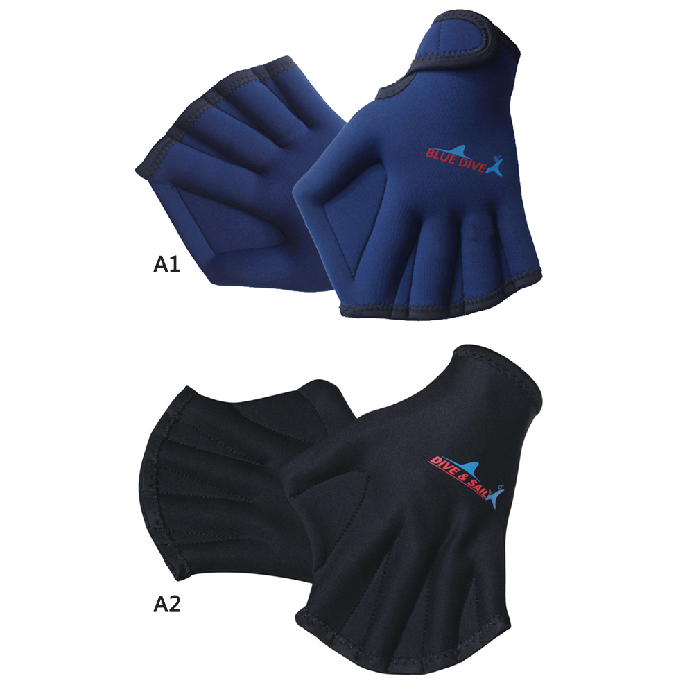 1 Pair Swimming Training Fingerless Webbed Diving Gloves Swimming Hand Paddles Water Sports Gloves