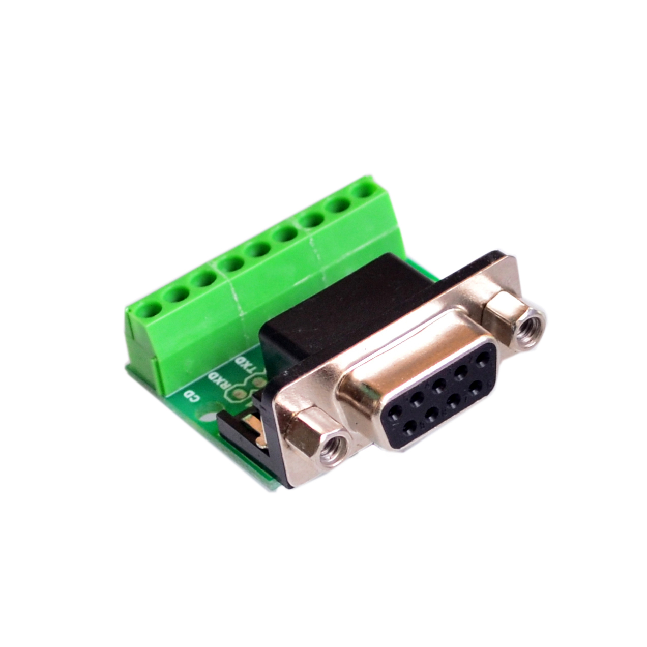 DB9 RS232 Female Serial Connector Breakout Board Screw Terminals Jack Post