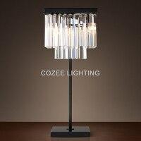 Дешевые Винтаж crystal led настольные лампы классическая настольная cristal свет Таблица Освещение для дома ресторан отеля жизни и Обеденная