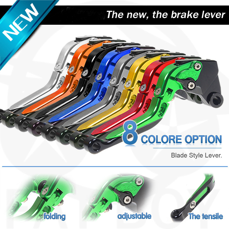 ФОТО CNC clutch motorcycle accessories brake levers for Kawasaki ZX12R / ZZR 1200  handlebar brake lever pull off adjustable stretch