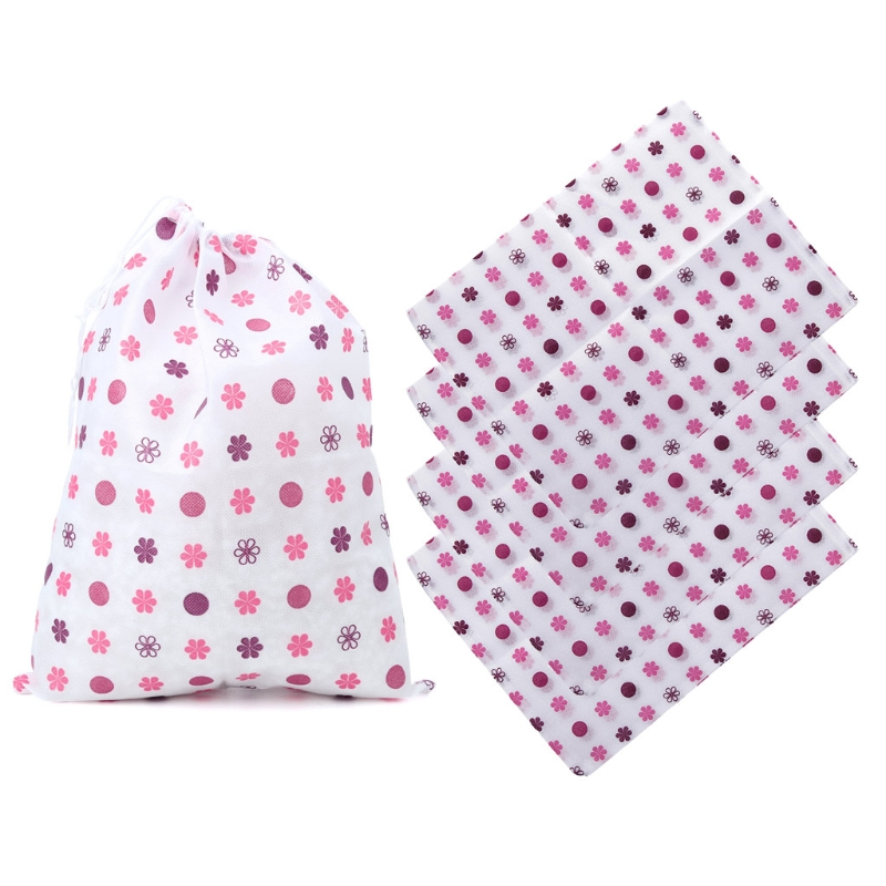 Portable Non-woven Shoes Clothes Storage Bags Travel Wash Pouch Drawstring Bag Of Travel Accessories