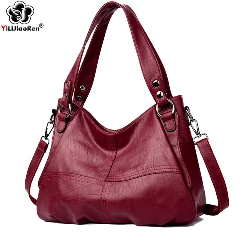 Casual Women Handbags Luxury Ladies Leather Hand Bags Large Capacity Tote Bag Brand Messenger Crossbody Bags For Women 2019 Sac