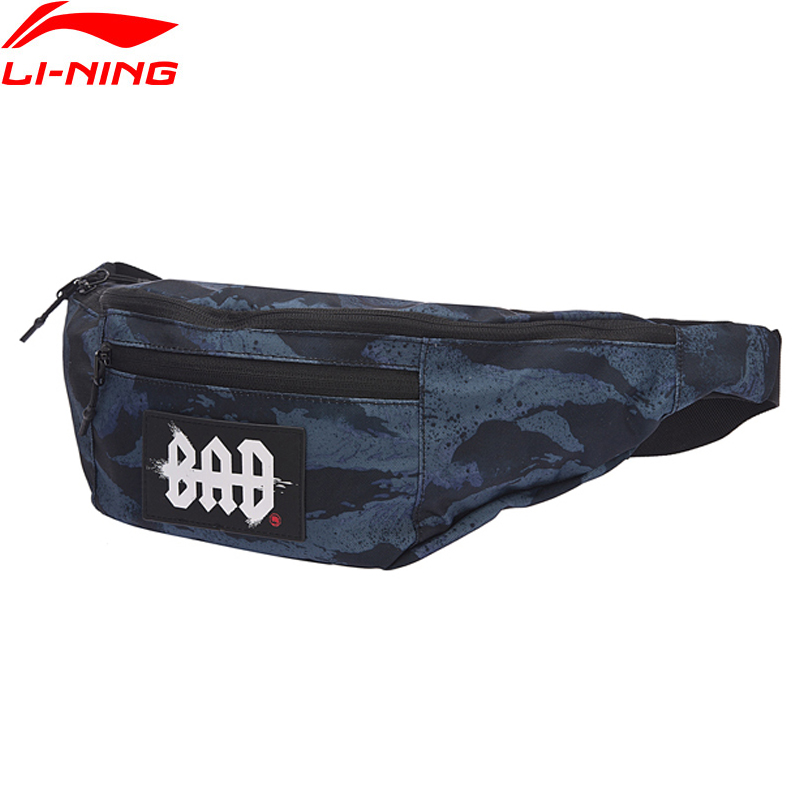 Li-Ning 2018 Unisex BAD FIVE Basketball Waistpack Polyester Classic Leisure Chest Package Li Ning Sports Bag ABLN014