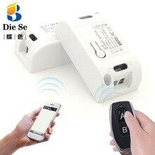 Interruptor inalámbrico Wifi Compatible con 433Mhz, Control remoto rf, CA 220V 10A 1CH, Control remoto inteligente, temporizador DIY para IOS y Android