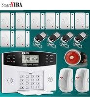 SmartYIBA Home Burglar Security Alarm System Alarm Alarmas With Home Security Intruder Alarm Kits Alarmes For House Safety