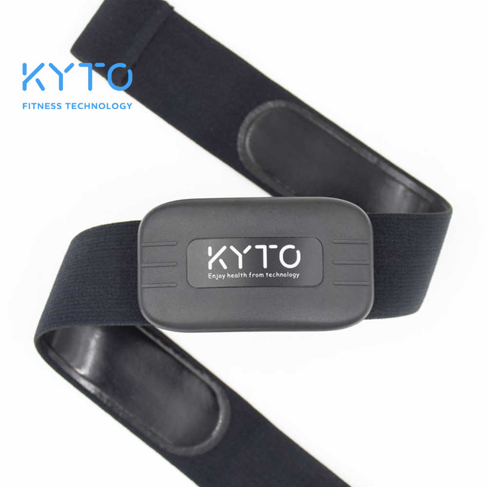 Kyto Heart Rate Monitor Dada Strap Bluetooth 4.0 Ant Kebugaran Sensor Kompatibel Belt Wahoo Polar Garmin Terhubung Outdoor Band