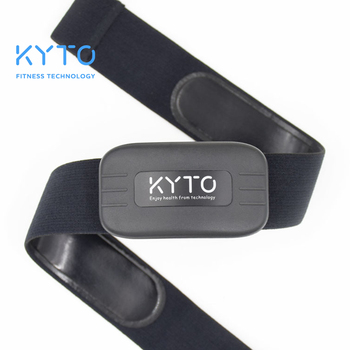 KYTO Hartslagmeter Borstband Bluetooth 4.0 MIER Fitness Sensor Compatibel Riem Wahoo Polar Garmin Aangesloten Outdoor Band