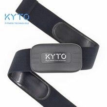 KYTO Heart Rate Monitor สายรัดข้อมือบลูทูธ 4.0 ANT Fitness SENSOR เข็มขัดที่รองรับ Wahoo Polar Garmin เชื่อมต่อแถบกลางแจ้ง