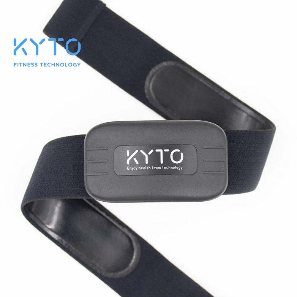 KYTO moniteur de fréquence cardiaque ceinture pectorale Bluetooth 4.0 ANT Fitness capteur Compatible ceinture Wahoo polaire Garmin connecté bande extérieure
