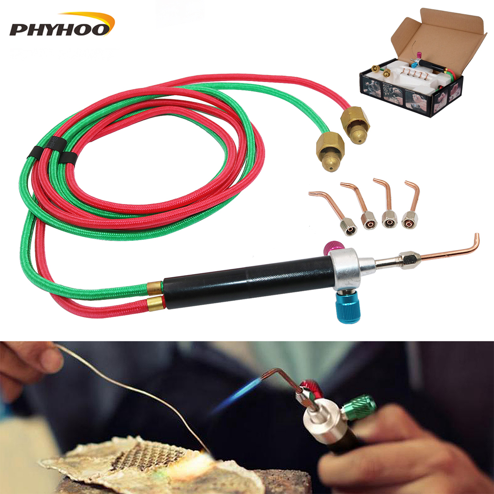 The Little Torch Portable Acetylene Oxygen Torch Soldering, Mini Gas Welding Torch Equipment Jewelry Making Tools
