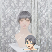 Wig Cosplay Short Synthetic-Hair Anime Nitori Wig-Cap The-Future Grey Heat-Resistant