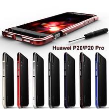 Huawei P20 Pro kılıf lüks alüminyum alaşım Metal çerçeve koruyucu kılıf için Huawei P20 Pro kapak tampon kabuk Huawei P20 metal kasa