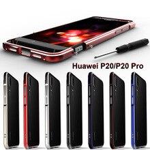 Huawei p20 pro caso de luxo liga alumínio metal quadro protetor caso para huawei p20 pro capa para pára choques escudo huawei p20 caso de metal