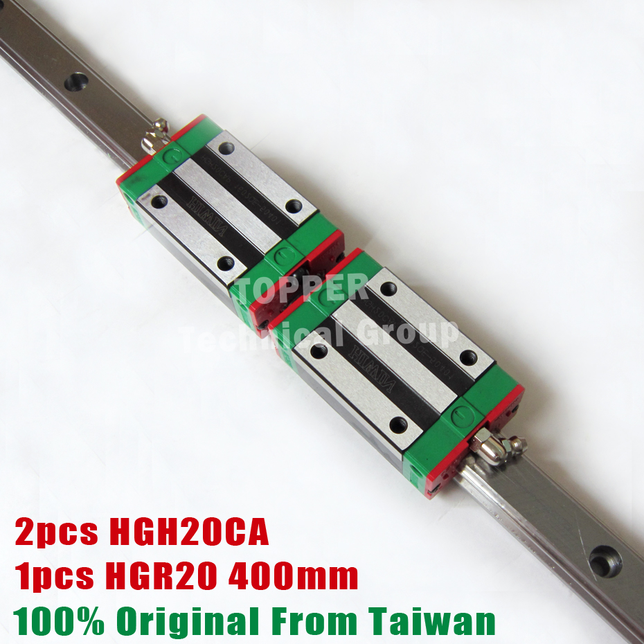 HIWIN HGR20 Linear Guide Rail 400mm With 2Pcs Of Linear Block Carriage HGH20CA HGH20 CNC Parts