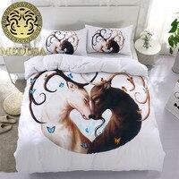 Medusa 3d her him Deer duvet cover set king queen full twin size 2018 wedding bed linen set
