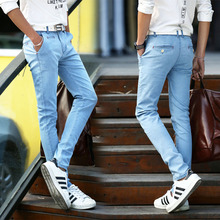 Fashion Men Jeans zipper pants slim fit 2017 spring summer luxury famous brand straight vintage Jeans high waist For Mens