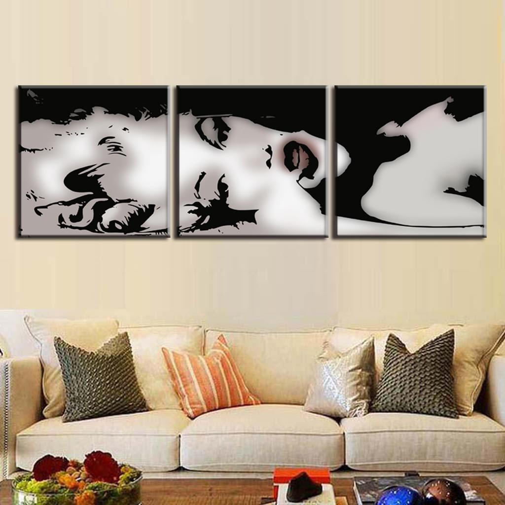 aliexpresscom buy 3 pcsset vintage poster framed portrait painting marilyn monroe beauty painting abstract canvas wall art modern wall paintings from