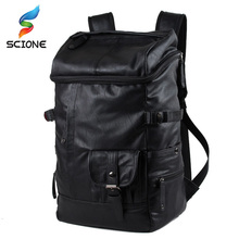 Backpack for Men Outdoor PU Bag Men Outdoor School Teenagers Multifunction Camping Hiking Travel Handbag Rucksack for Male