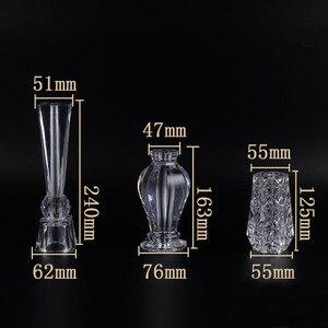 Image 2 - 4 Pcs Acrilico di Cristallo di Vetro cabinet Tè TV Cabinet Piedi di Caffè Supporto Da Tavolo Gambe piedi Per Mobili