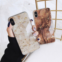 Lovebay Luxury Gold Foil Bling Marble For iPhone X XS Max XR Phone Case Soft TPU Cover For iPhone 7 8 6 6s Plus Glitter Case